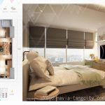 Denah Apartemen Skandinavia Tangcity 3 BR Deluxe