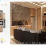 Denah Apartemen Skandinavia Tangcity 3 BR Top Level